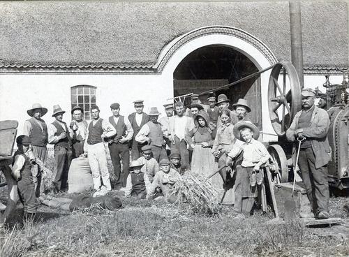 Damptærskeværk på Birkegården i Tømmerup på Amager