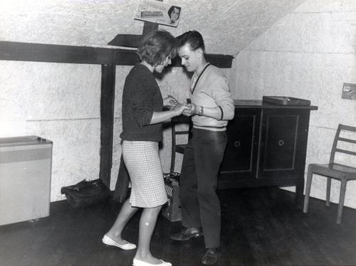 Ungdomsklubben på Rhodesiavej i 1961