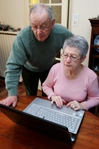 Seniorer med pc