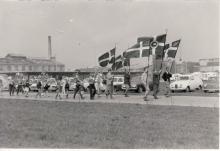 Festlig indmarch ved åbningen af Tårnby Camping, maj 1966